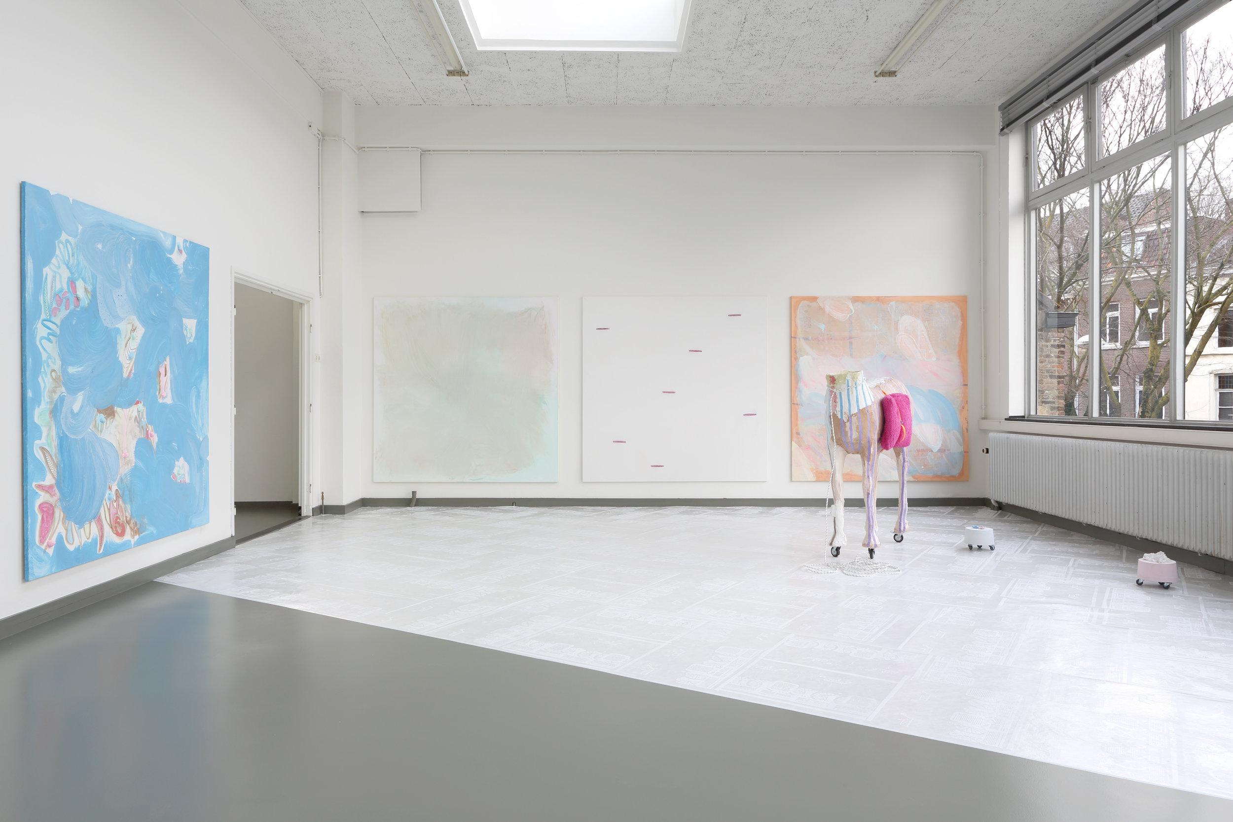 A stone is dropped, eggs mixed, pigments crushed.. - Open Studio's '18, Jan van Eyck Academie, 2018