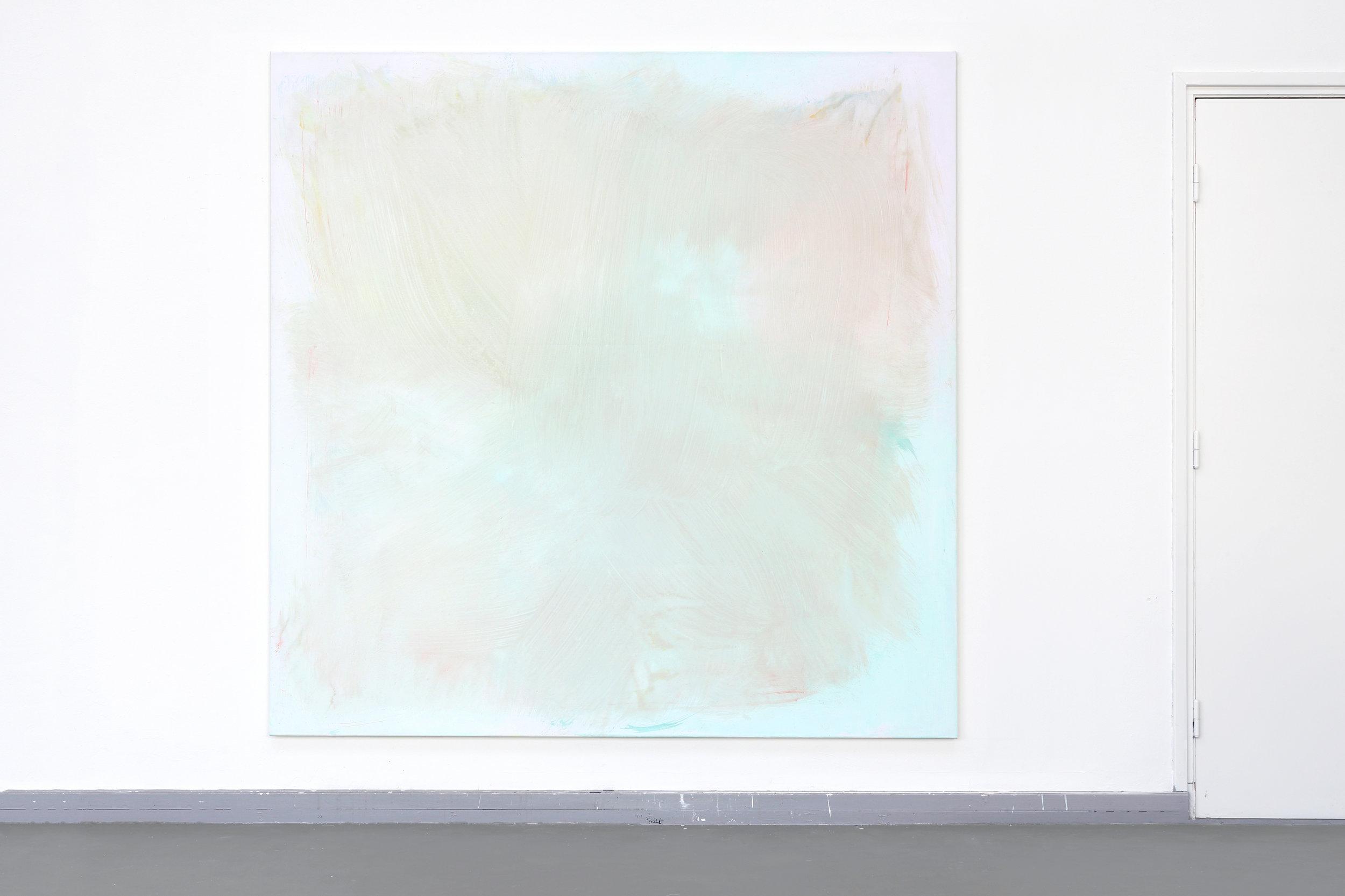 Poetsdoek 6 (Broom)  - Egg-tempera on canvas, 200 x 200 cm, 2018