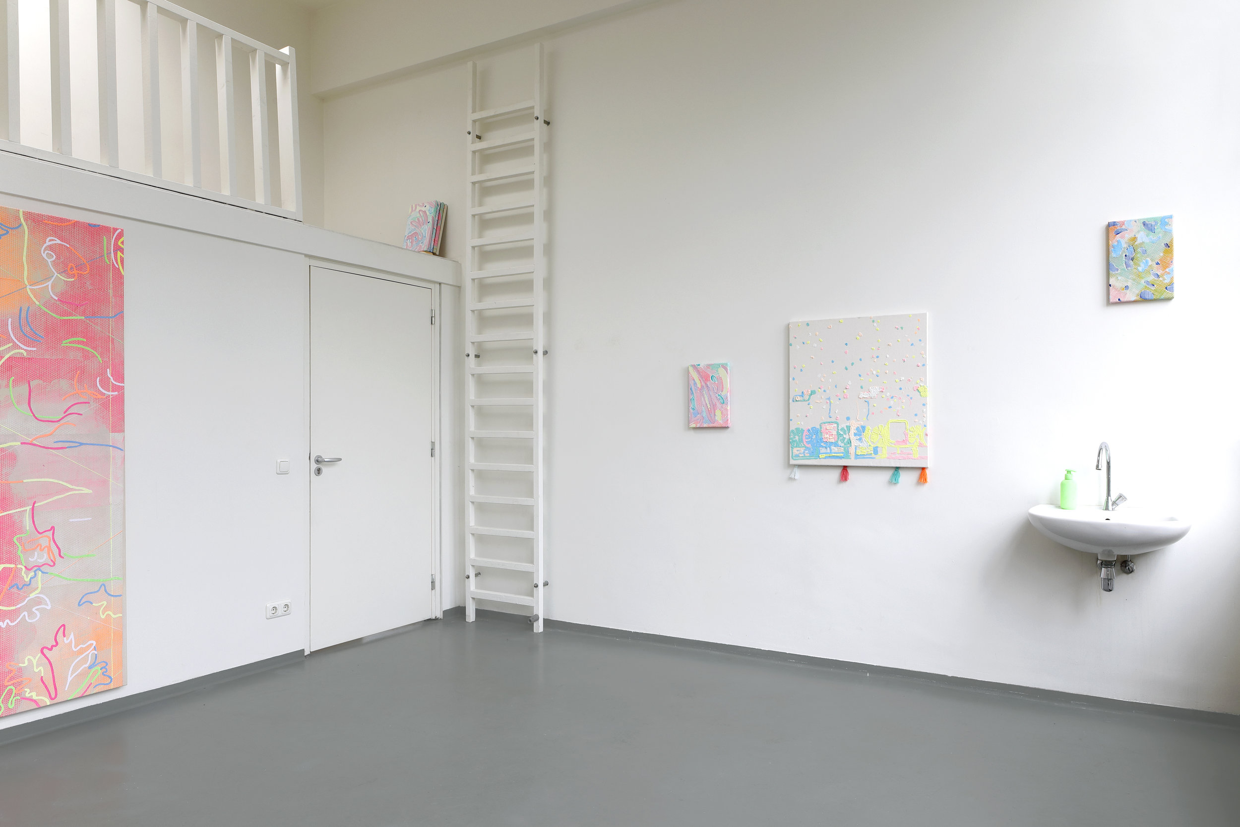 Exhibition view, various measurements, Van Eyck Open Studio's 2019
