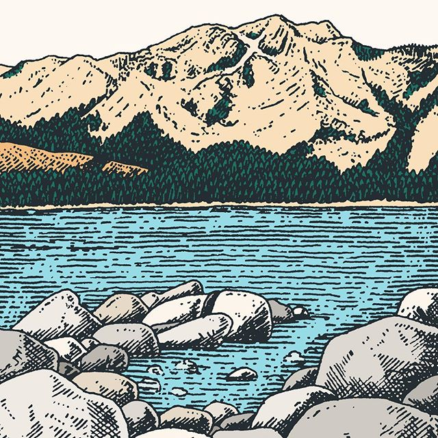 Desolation in the distance @averyhillpublishing #desolationwilderness #illustration #silentcomic #landscape #drawing #penandink #penandpaper #america #averyhillpublishing #comic #book #bookstagram #laketahoe #zephyrcove
