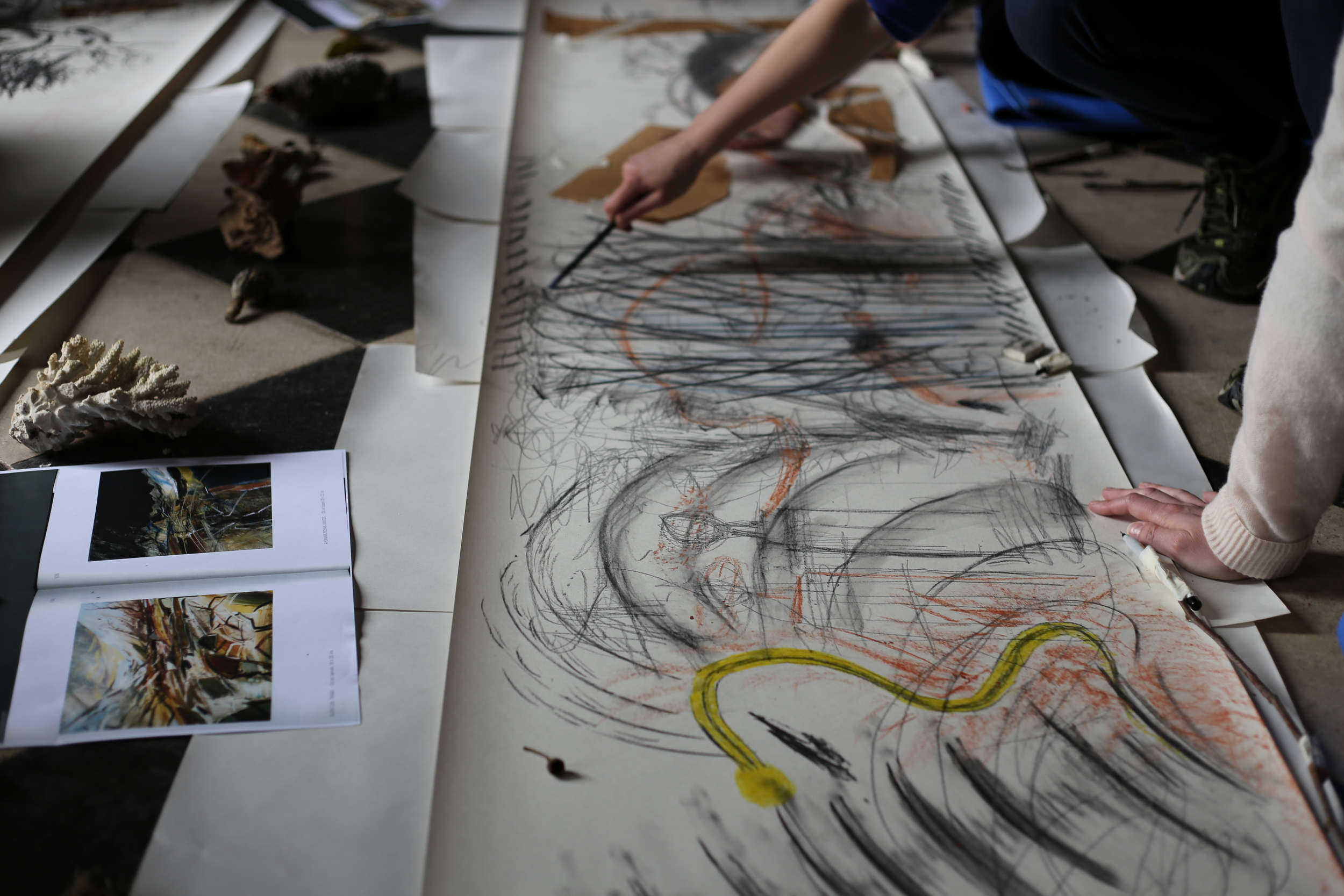 A creative drawing workshop led by Jessica and Lottie