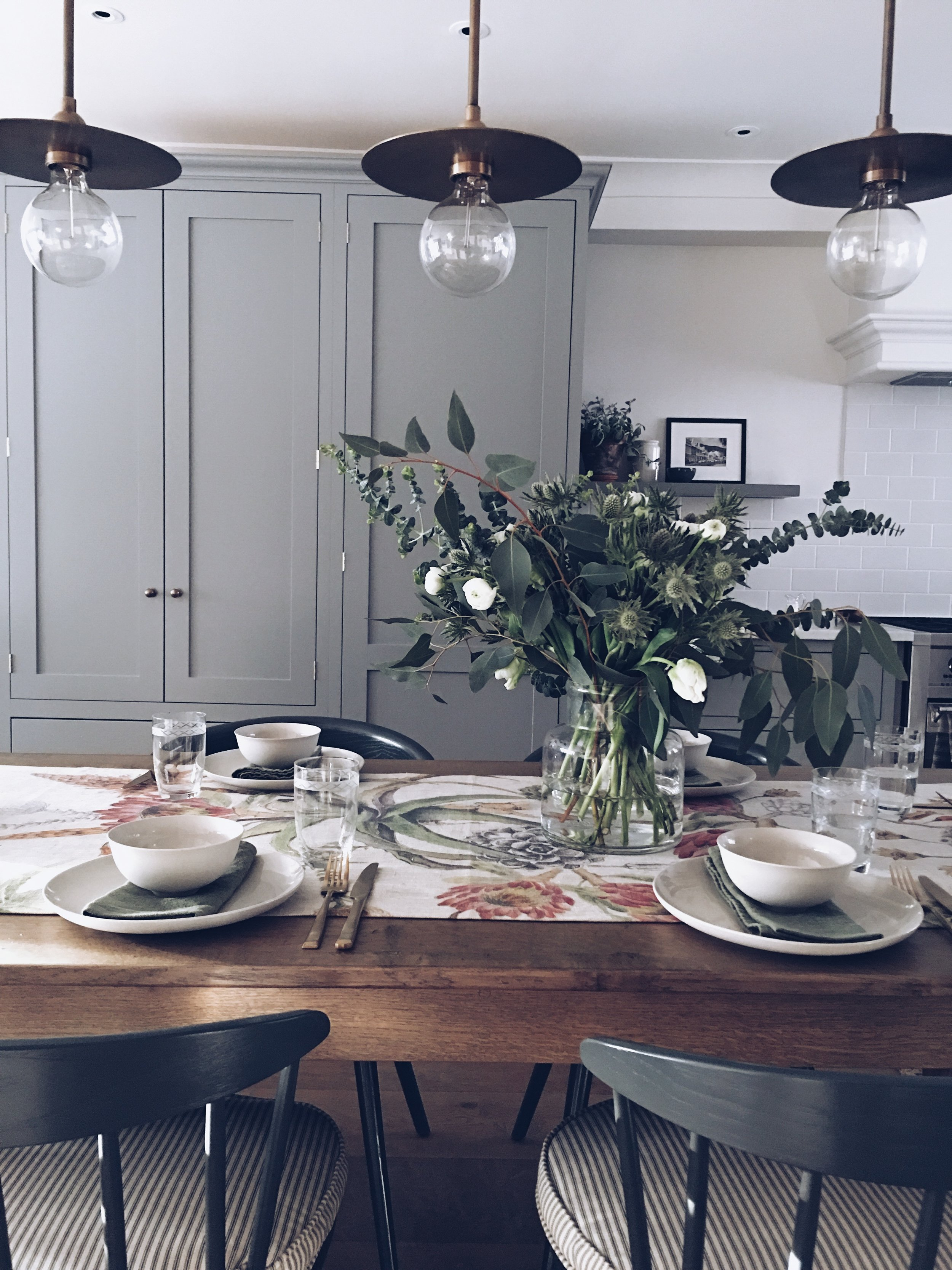 Kitchen and table setting