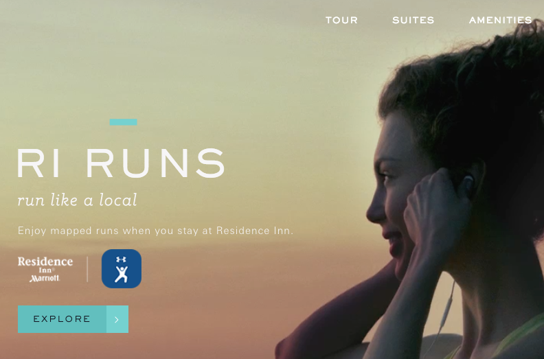 To promote Residence Inn's RI Runs campaign with Under Armour Connected Fitness, I developed the headline, 'Run like a local' as well as related copy to carry the campaign through on-property.