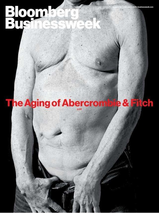 """Ad Age called Bloomberg's daring art direction """"Gross and Awesome"""", so I can't decide whether to compliment them for calling this 70-something torso awesomeor to be mad at them for calling it gross."""