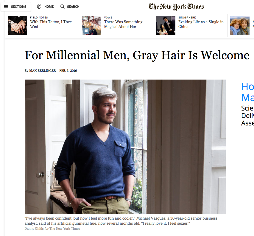 Of course, once  the Times picked this up , it was repackaged on dozens of web sites. Does that make it a bona fide trend? The mere fact it can be believably reported as one suggests that Millennials are beginning to see maturity as a positive trait.
