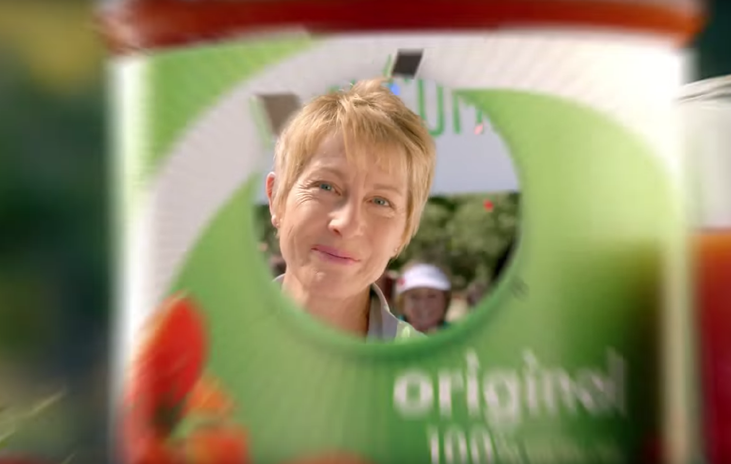 """This actor's wrinkles made me think, """"Cool! A spot that presents a savvy, attractive woman, without trying to mask the fact that she's at least 50. But on repeated viewings, I realized Campbell's V8 commercial was guilty of reverse ageism."""