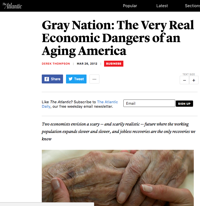 It may not be as bad as all that. But we have to wonder whether the idea that aging consumers are inherently a drag on the economy is a product of ageism, or a cause of it?