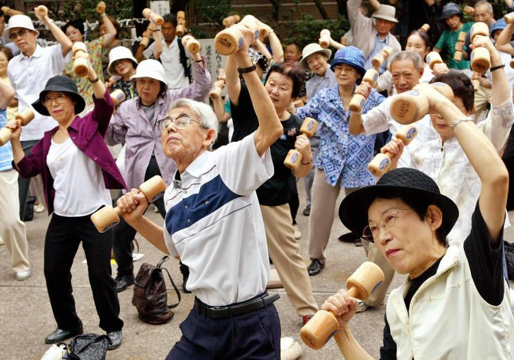 Are a large percentage of older consumers a drag on the economy? Or are the people who say that just dumbbells?