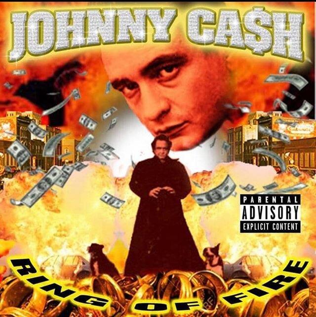 #JohhnyCash #whitefksgetcrunk #mixtapecover