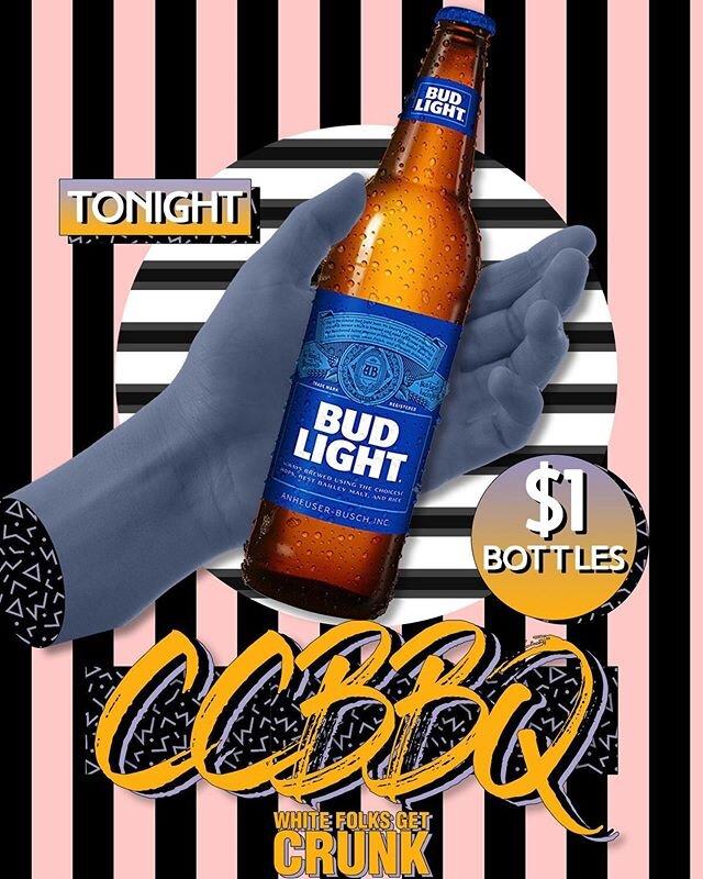 THE COUNTRY CLUB BBQ // $1 BOTTLES // DJ HXR // TONIGHT . . . #bangers #whitefolksgetcrunk #wfgc #top40 #djhxr #edits #bootlegs #mashups #weekendsoundtrack #crunk #dollarbottles #ccbbq #countryclubbbq #serato #nightlife #edm #trap #rap #pop #daddj #djlife #bradley #bu #bradleyuniversity