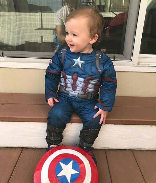 Dad's little hero...