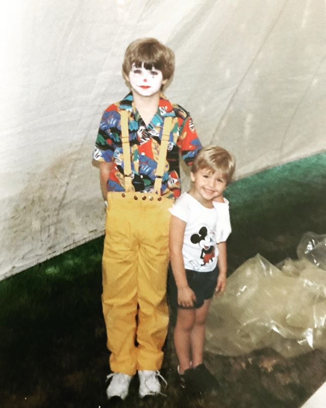 #throwbackthursday to an early childhood performance at Panoply, an annual arts festival in Alabama. Would have been around 1987. Pictured with my younger brother @ccertainu65 #tbt #yellowpants