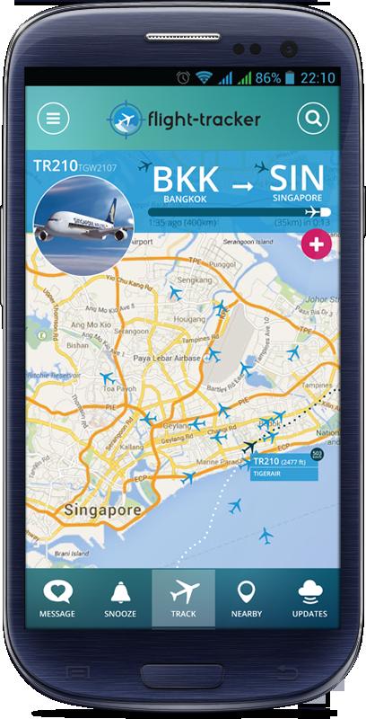 Mockup version of the app (image credit: Flight Tracker)