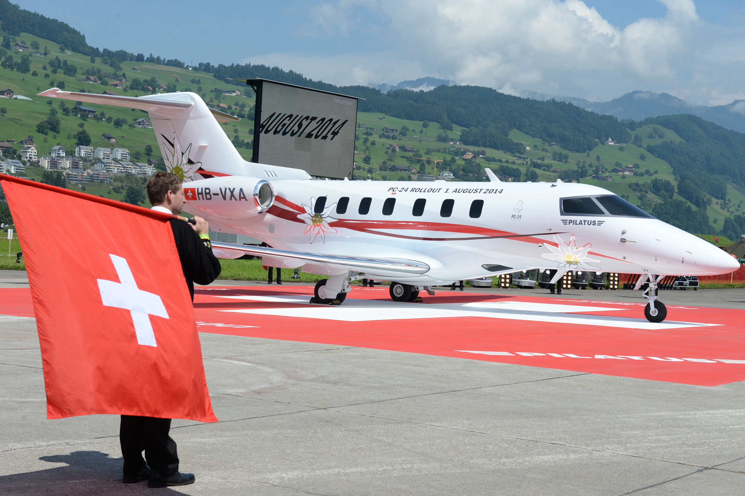 The cross and the edelweiss. (image credit: Pilatus)