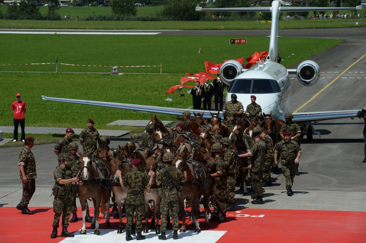 I was once too in this uniform. No horses or Pilatus for me though. (image credit: Pilatus)