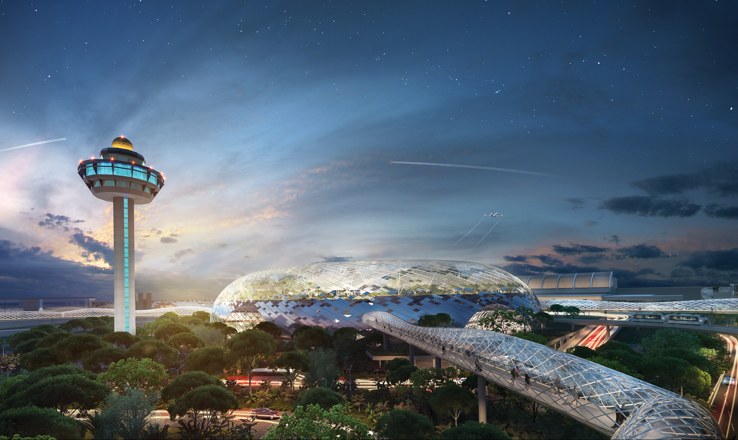 This is not science-fiction. (image credit:  Safdie Architects )