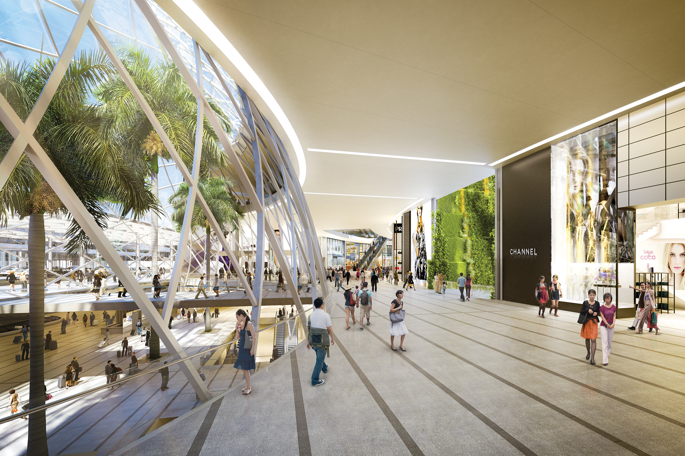 A shopping destination for sure, with a single n.  (image credit:  Safdie Architects  )