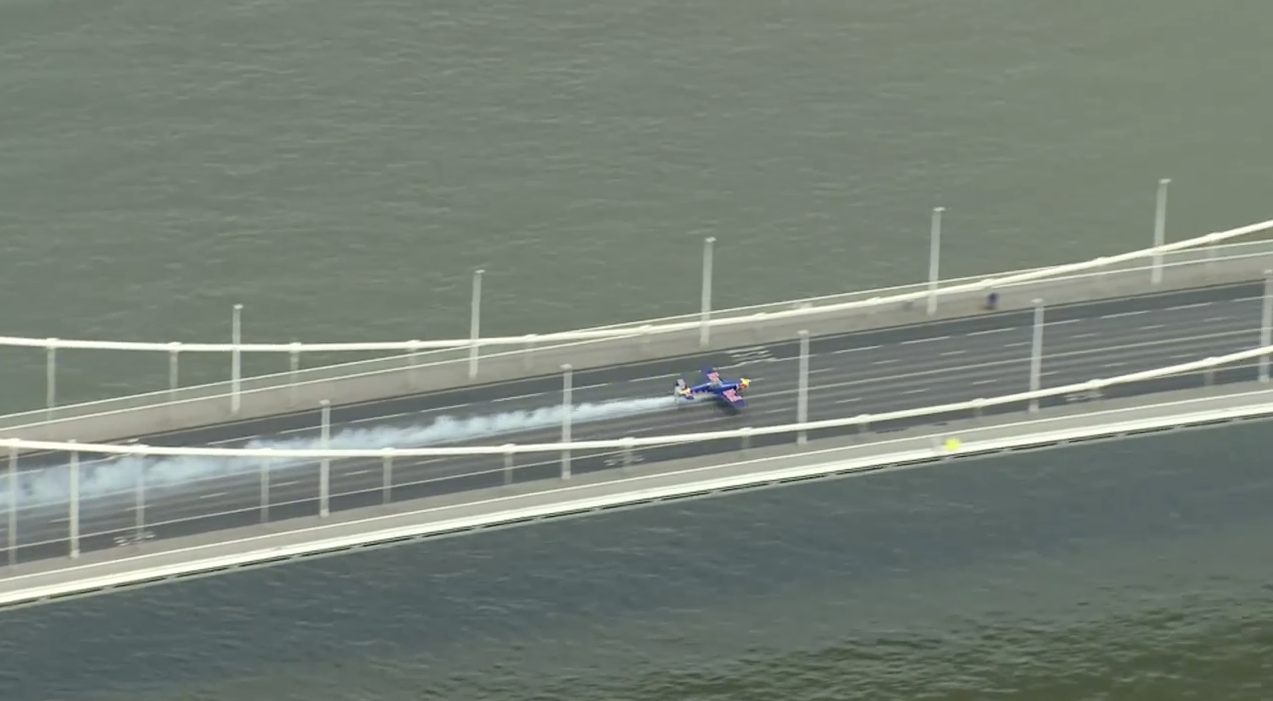 On the bridge. (image credit: Youtube, The Flying Bulls)