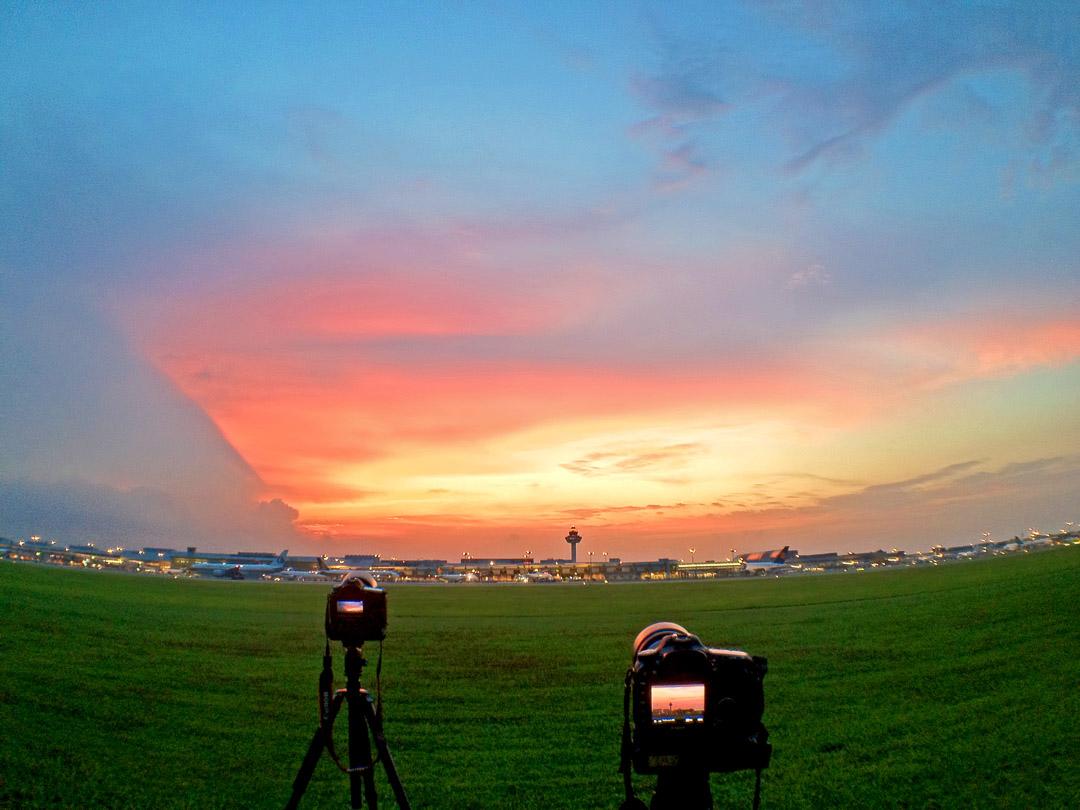 Capturing the skies. (image credit:  Milton Tan )