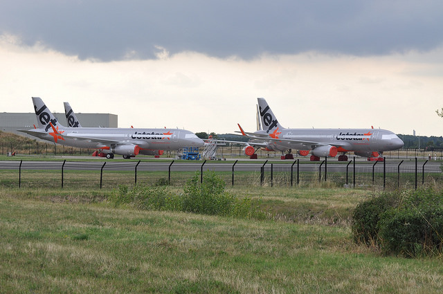 Jetstar Hong Kong A320s are beginning to stack up at the Airbus Factory in Toulouse.