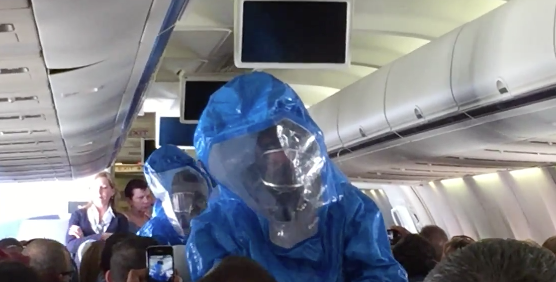 This is not a still from the movie 'Outbreak' (image credit:  Patrick Narvaez, YouTube )