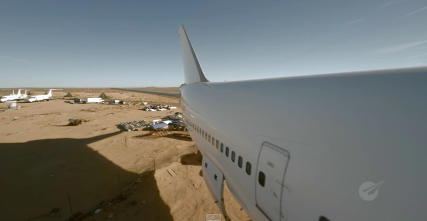 The 747 is already in a desert.