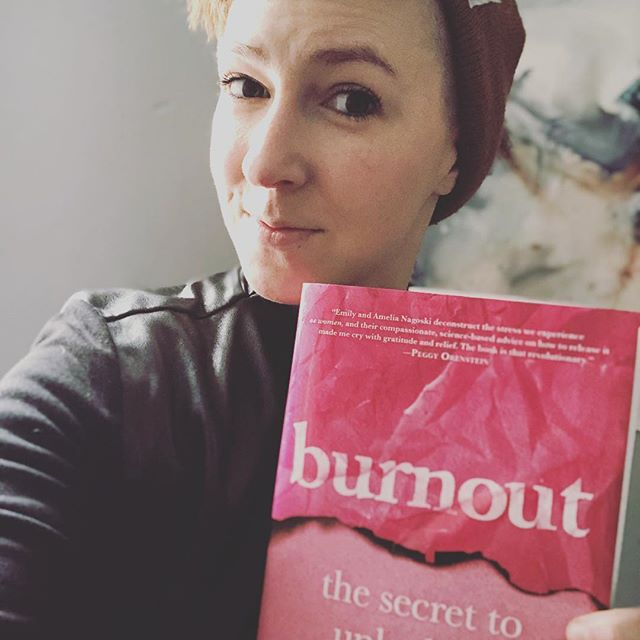 "When your sex nerd/literary inspiration unexpectedly gives you a shout out in her brilliant new book on #burnout (go buy it immediately, it's full of such juicy nuggets of knowledge) and your heart explodes with happiness just a little bit. ❤️🔥❤️ Sitting down with Emily several years ago and having a long conversation about sex and feels and everything in between and having her say ""I think you'll write a great book one day"" was the shot in the arm I needed to think that was ever going to be a possibility in my life. I'm certainly not there yet, but moments like that help me to remember what's possible.  @burnoutbookgroup @enagoski"