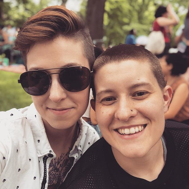Chicago Dyke March is always my favorite thing and sharing it with this human for the second time felt really good. 🌈❤️ #chicagopride #chicagodykemarch