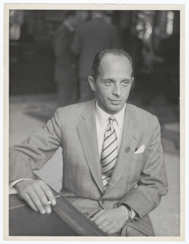 Gerhart Riegner, probably at the meeting of the World Jewish Congress in Montreux, Switzerland.