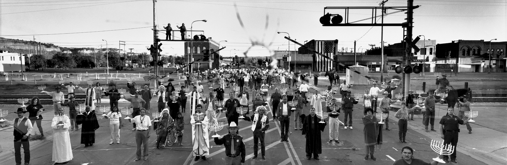 Commemoration of anti-semitic attacks at Billings, Montana.