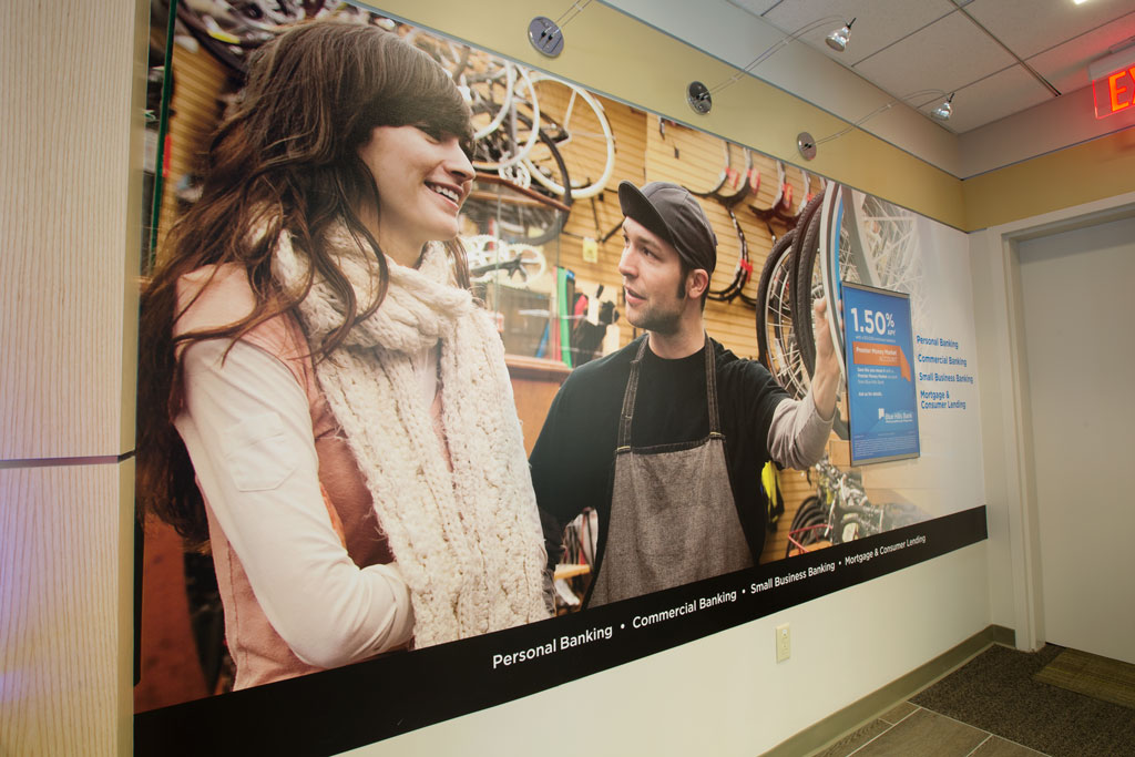 Environmental graphicand display solution, designed by George Brown.