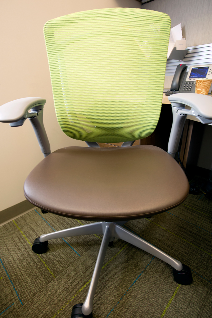 Office furniture detail, materials specified by Caleigh Pollard.