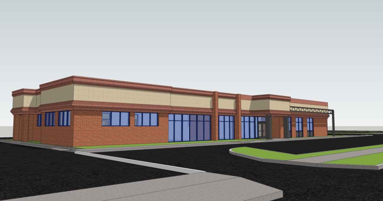 Early phase exterior rendering