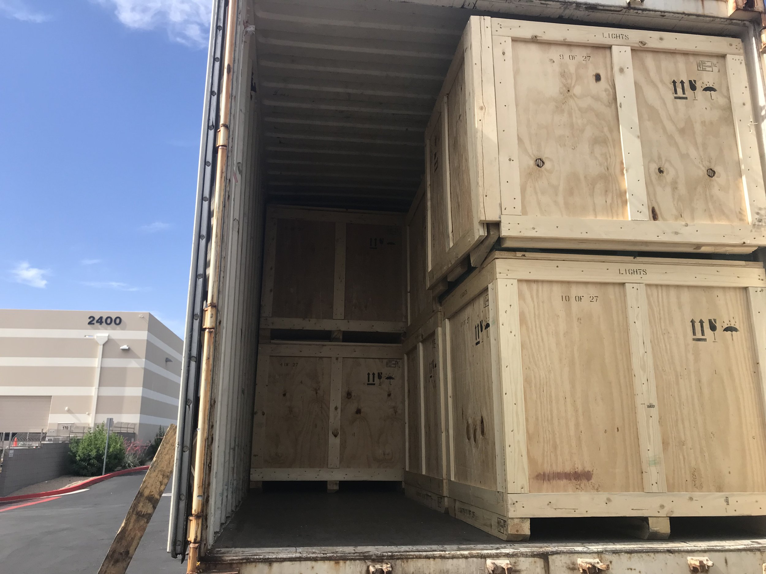 With minimal room to space, the boxes containing the branch were ready for departure.