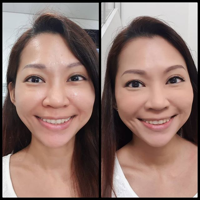 Too lazy to dig a photo from 10 years ago. So this is the #10minschallenge, before and after makeup and hair at #mediacorp!  Ok lah, took maybe about 30mins.  #10yearschallenge #filming #channel8 #nomakeup #