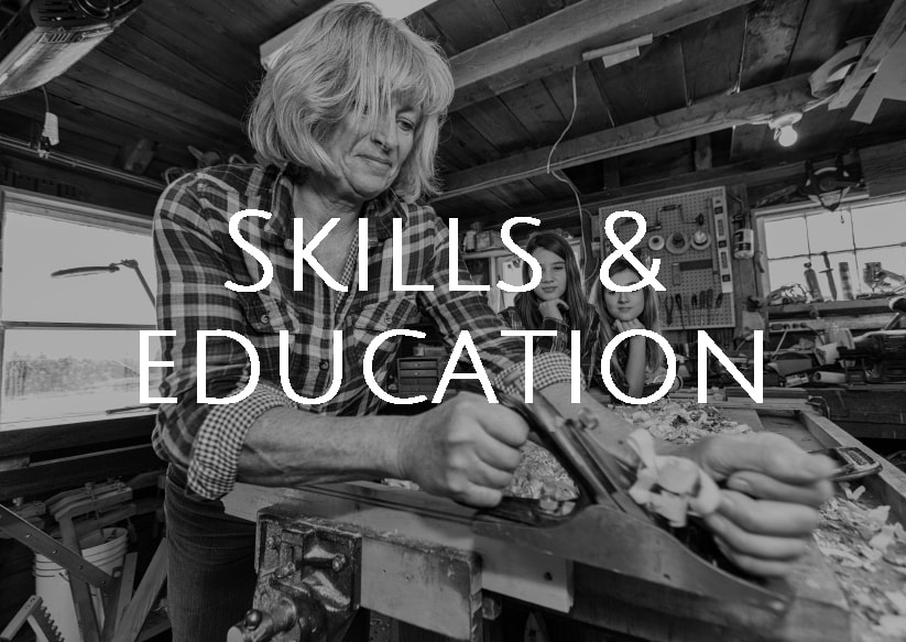 Skills and education