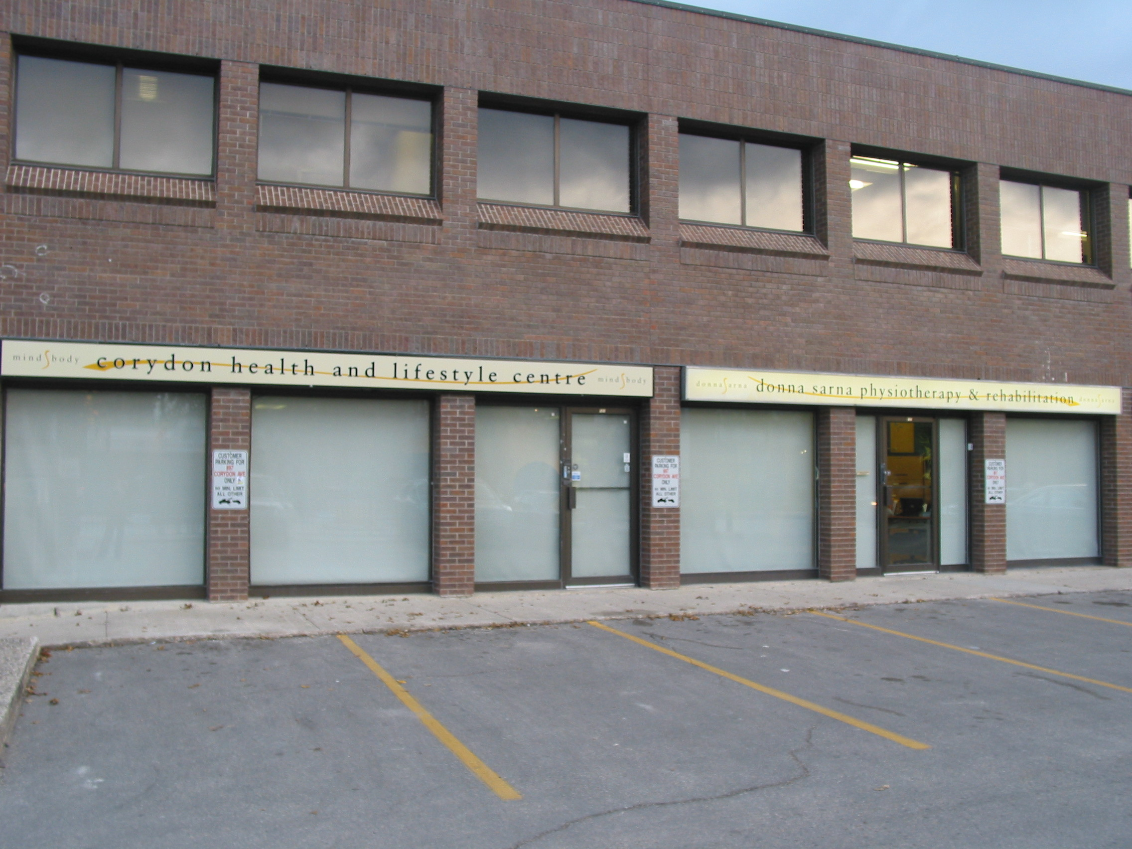 Clinic From Outside at 102-897 Corydon Ave., Winnipeg, MB    (Also Find us at our Second Location at 103-1383 Pembina Hwy)