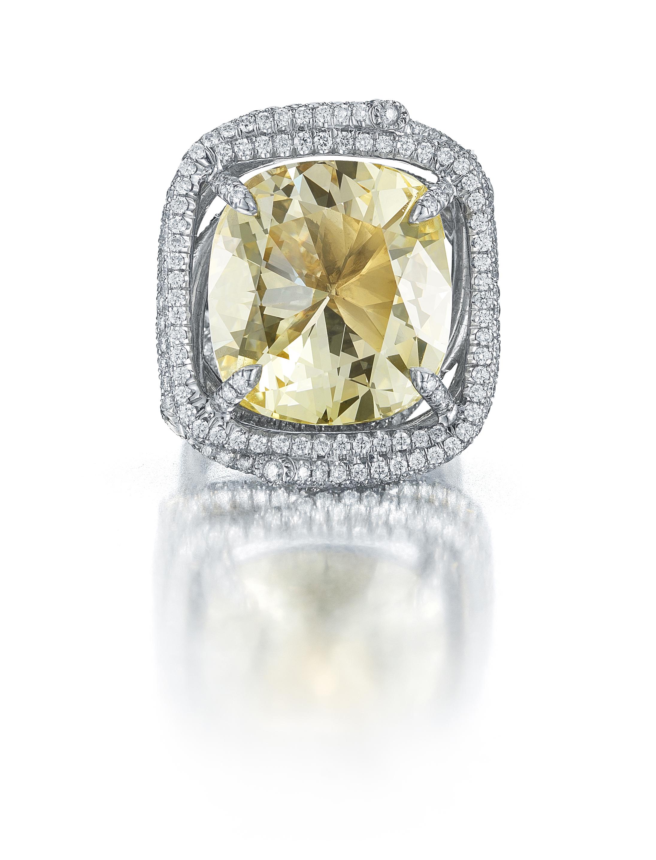 2ct Yellow Diamond engagement ring