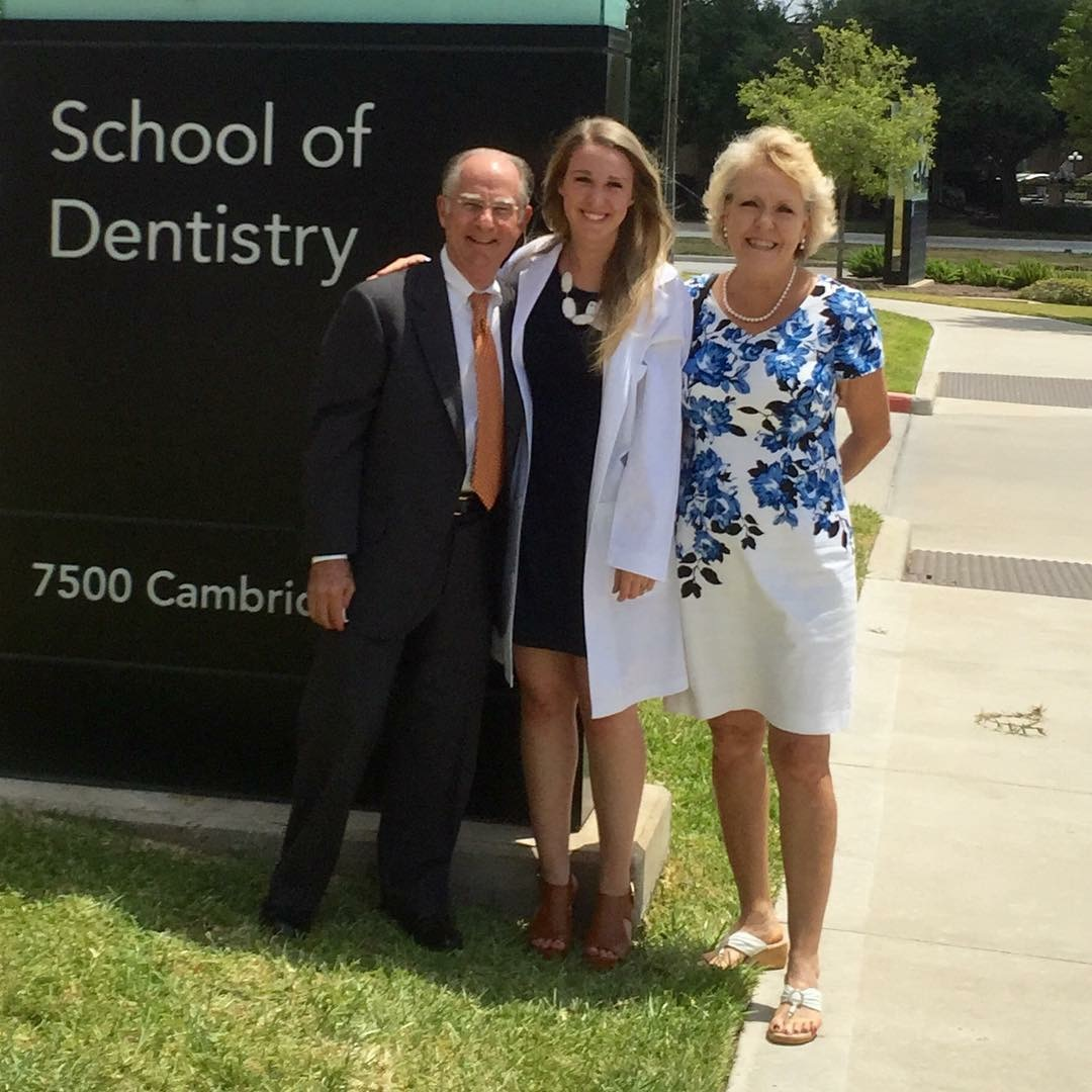 Dr. Gallerano, his wife, Nelda, and youngest daughter, Natalie, who began dental school at UT School of Dentistry in 2015.