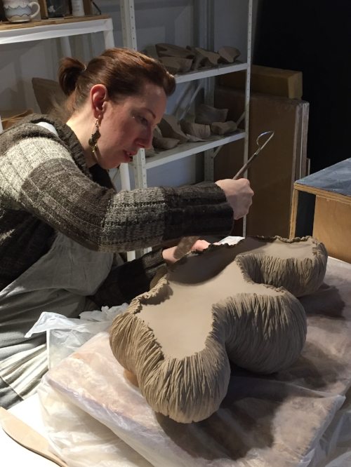 texturing the sculpture
