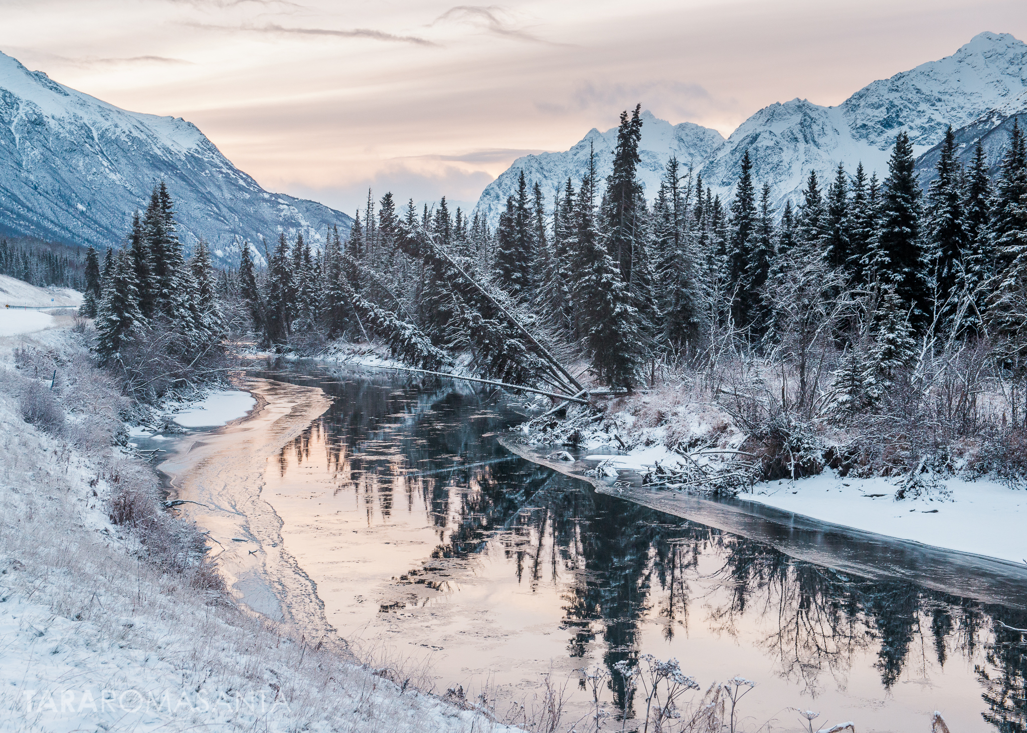The reflections and wintery morning pastels made this a favorite landscape shot.