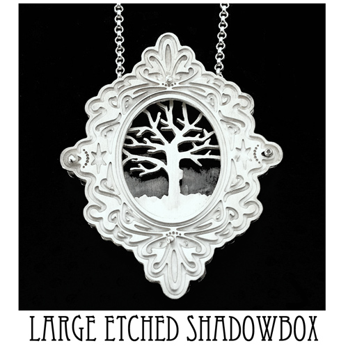 Large etched shadowbox
