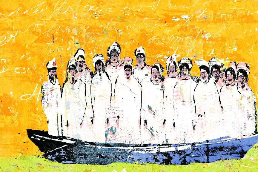 Nurses in Boat