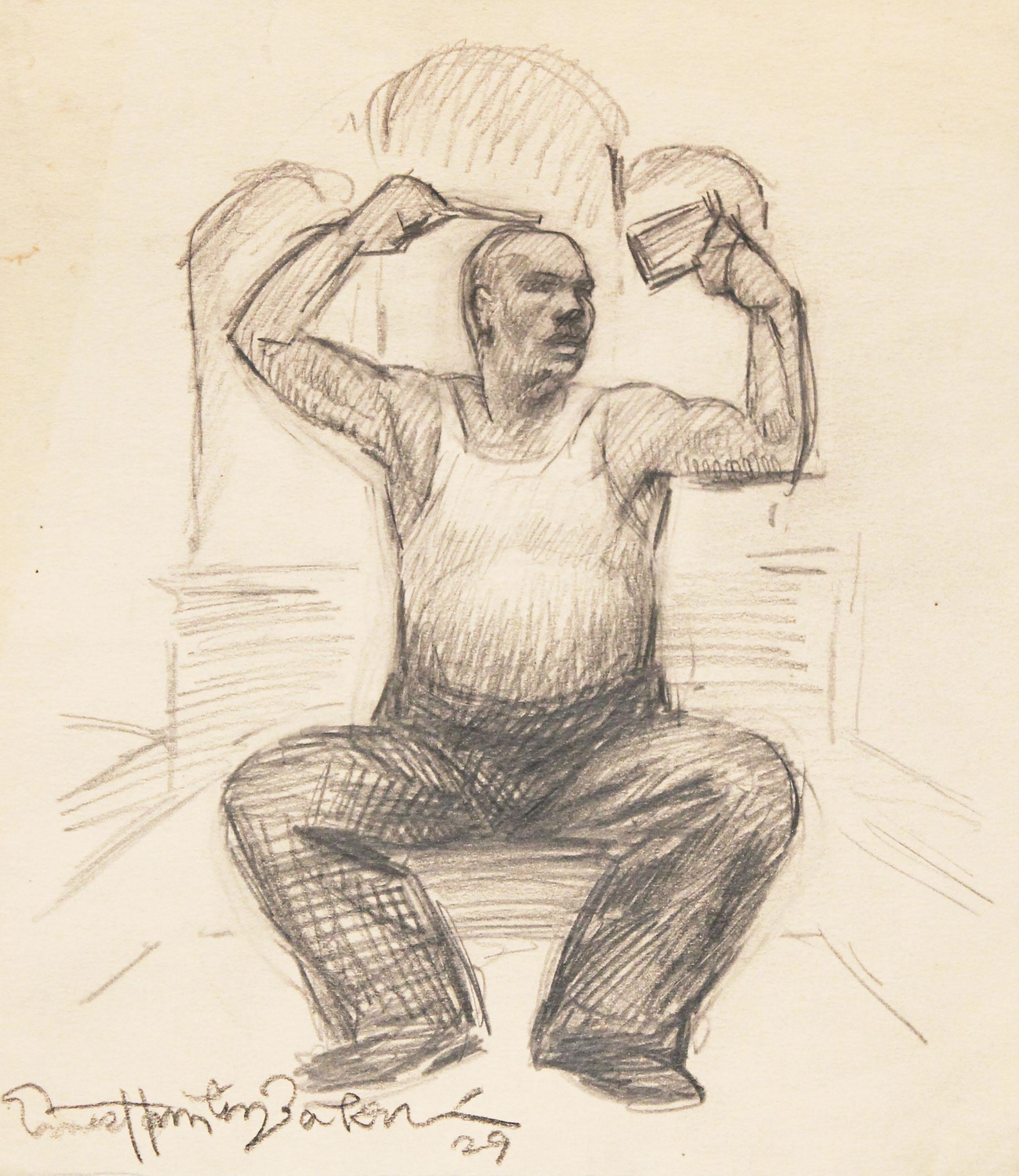 Hair Styling:1929 Baker Sketch Drawing on Paper 10x8.5.jpg