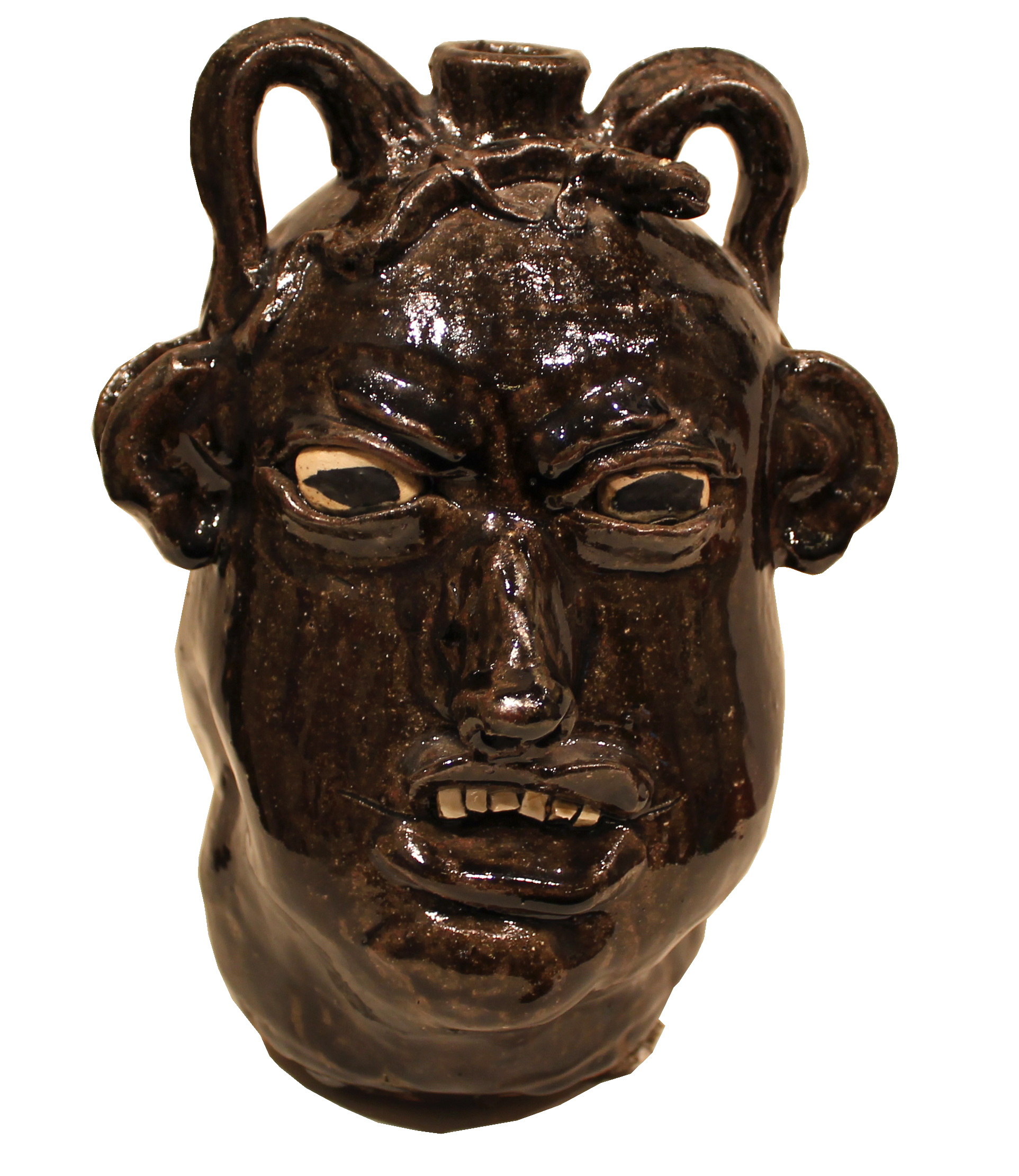 Face Jug (Double Faced Politician) by Chester Hewell