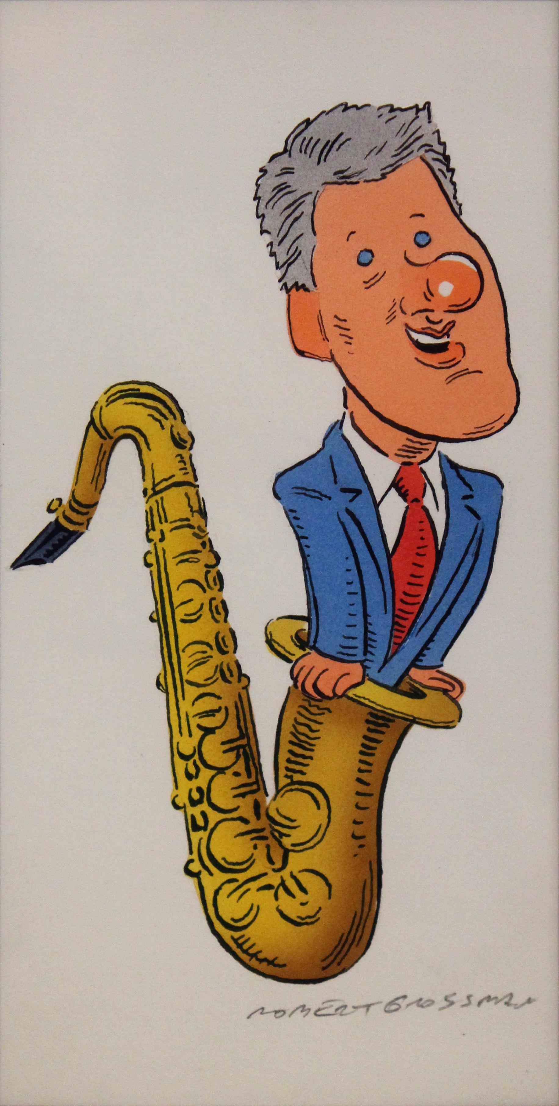 Robert Grossman, Bill Clinton Saxaphone, HIGH RES.jpg
