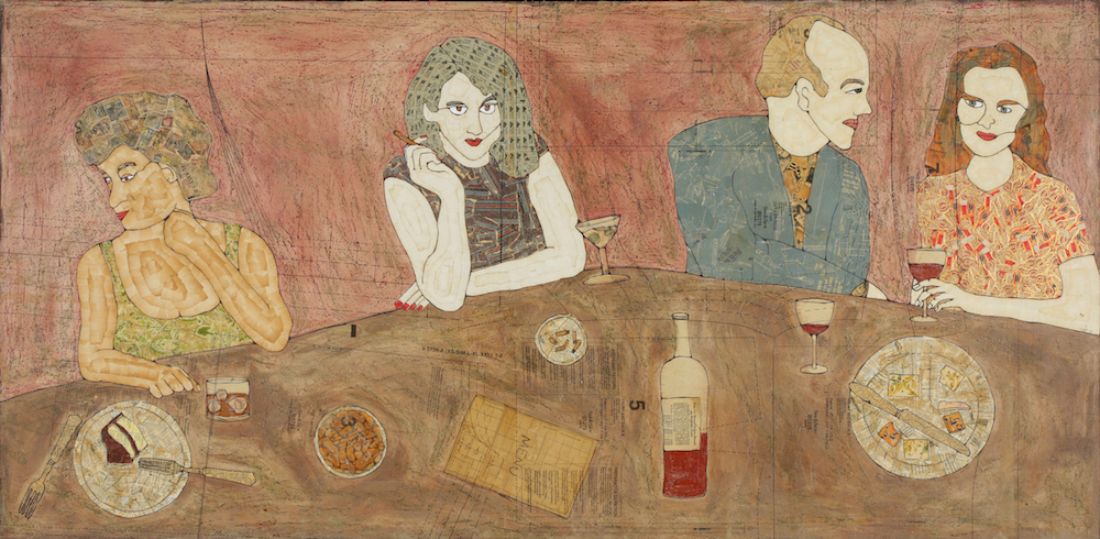 At the Bar_Tiffany Ownbey_Papier-mache on Panel_36 x 72 in._HIGH RES (1).jpg