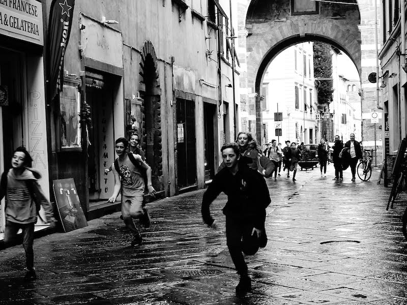 Running on a Wet Afternoon, Lucca, 2018