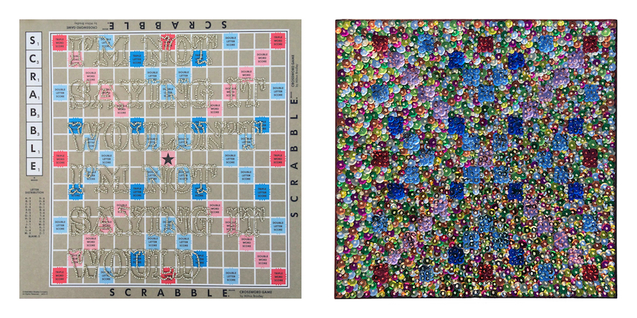 Double Word Score Diptych