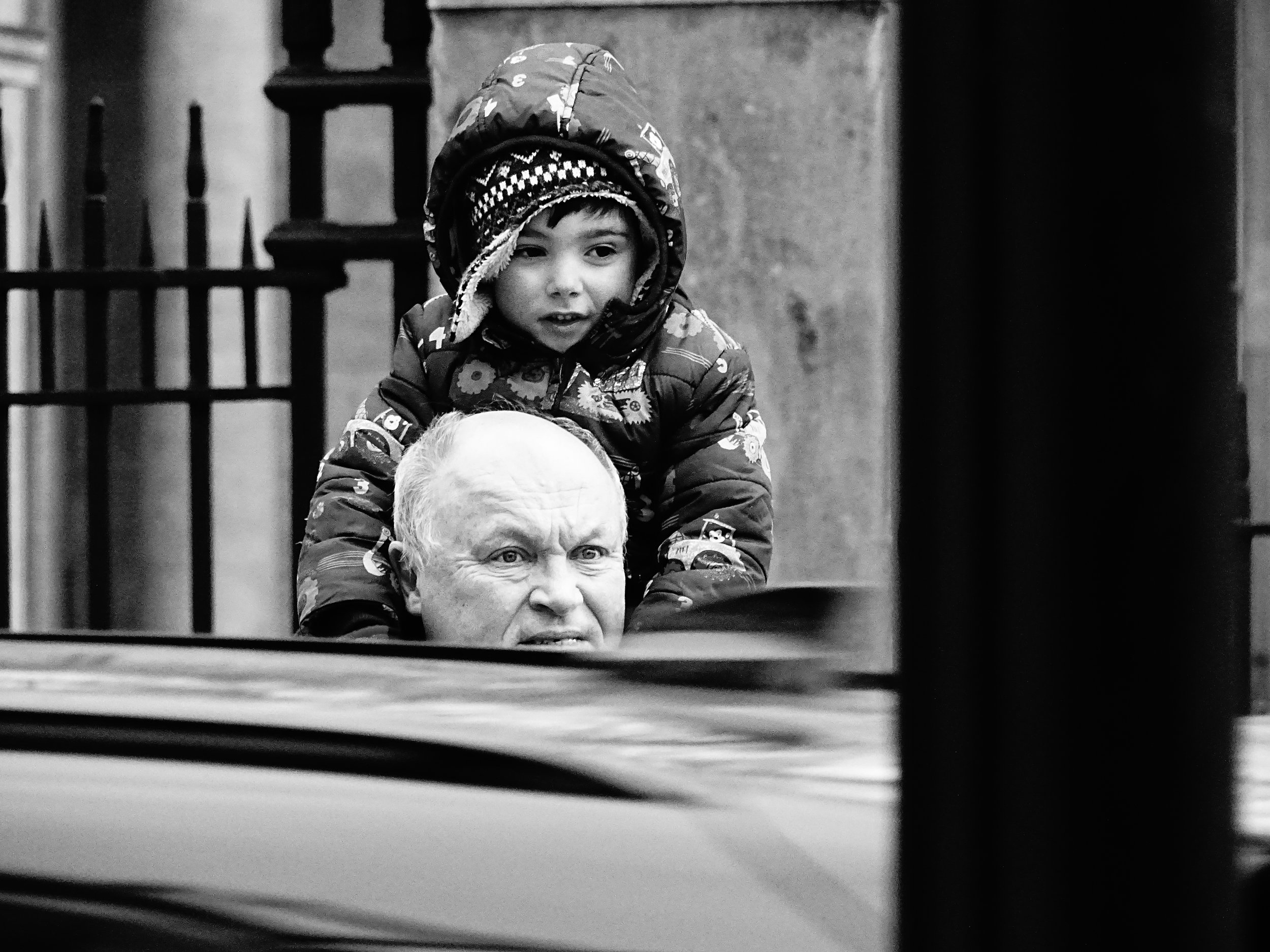 On His Grandfather's Shoulders, London 2018